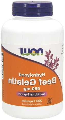 Now Foods BEEF GELATIN 550 mg Hydrolyzed Collagen Protein -