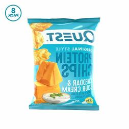 Quest Nutrition Cheddar & Sour Cream Protein Chips, Low Carb