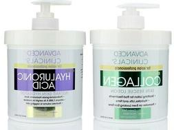 Advanced Clinicals Collagen Cream and Hyaluronic Acid Cream