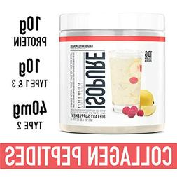 Isopure Collagen Types 1 and 3 Peptides Protein Powder Raspb