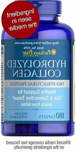 Hydrolyzed Collagen 4000 mg 180 caplets Hair Skin Nail Care