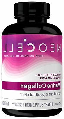 New Neocell Marine Collagen plus Hyaluronic Acid Capsules 20