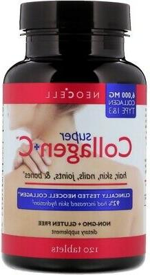 Super Collagen +C by Neocell Laboratories, 120 tablet