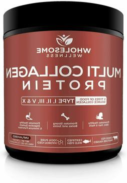 Wholesome Wellness Multi Collagen Protein Powder Hydrolyzed.