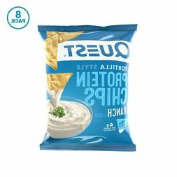 Quest Nutrition Tortilla Style Protein Chips, Ranch, Low Car